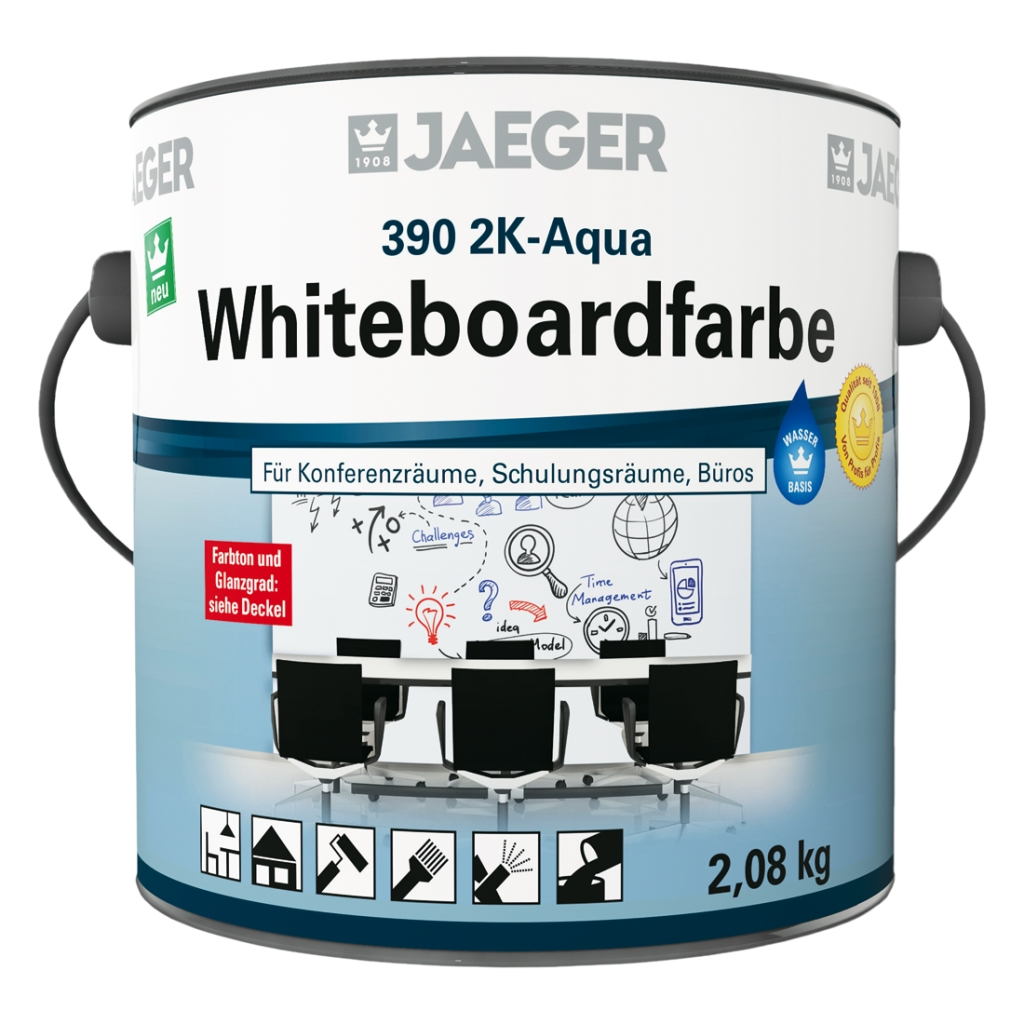 JAEGER 390 2K-Aqua Whiteboardfarbe transparent